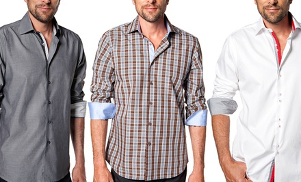 Levinas Men's Dress Shirts. Multiple Styles Available. Free Returns.