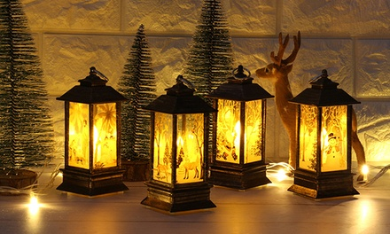 Battery-Powered LED Christmas Lantern Light: One ($12) or Two ($22)