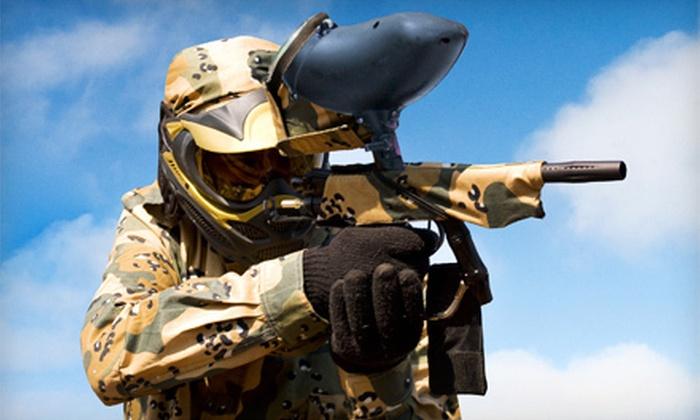 Flag Raiders - Kitchener: Indoor or Outdoor Paintball Package for Four at Flag Raiders (60% Off)