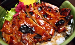Teriyaki Lee: $12 for Two Groupons, Each Good for $10 Worth of Sushi, Teriyaki, and Drinks for Two at Teriyaki Lee ($20 Total Value)