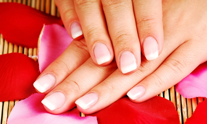 Blushing Goddess Salon - Westside Connection: One or Two Essie Nail-Whitening Treatments at Blushing Goddess Salon (Up to 51% Off)