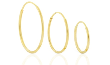 14K Yellow Gold Endless Hoop Earrings from $13.99–$19.99