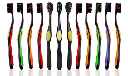 Organic Bristle Toothbrushes (12-Pack)