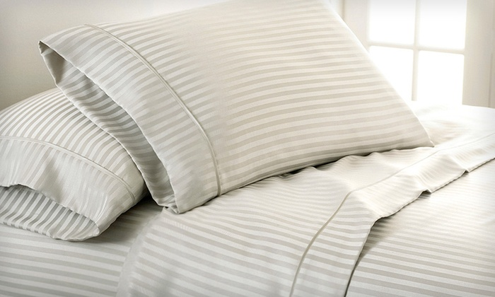 Woven Dobby-Stripe Microfiber Sheet Sets: Luxury Touch Dobby-Stripe Microfiber Sheet Sets (Up to 63% Off). 32 Options Available. Free Shipping and Free Returns.
