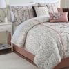 Cherry Bloom Embroidered Comforter Set (7-Piece)