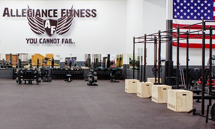 One-Month Charlie, Bravo, or CrossFit Membership at Allegiance Fitness (Up to 65% Off)