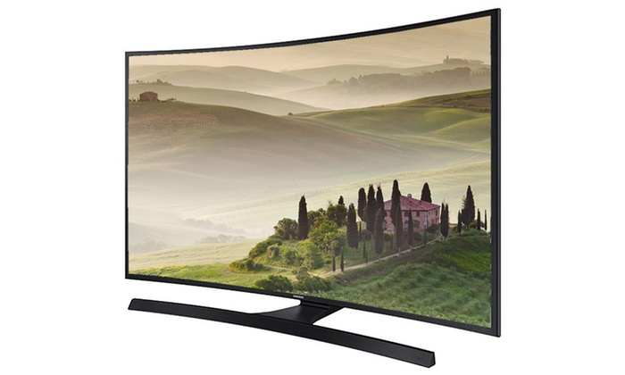 "Samsung 55"" or 65"" 4K Ultra HD Curved Smart TV (Refurbished)"