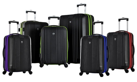 Olympia USA Apache 3-Piece Expandable Hard-Case Luggage Set with Spinner Wheels