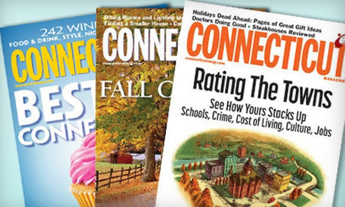"Connecticut Magazine: $6 for a One-Year Subscription to ""Connecticut Magazine"" ($11.97 Value)"