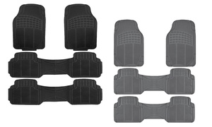 Heavy-duty Rubber Floor-mat Set (4-piece)