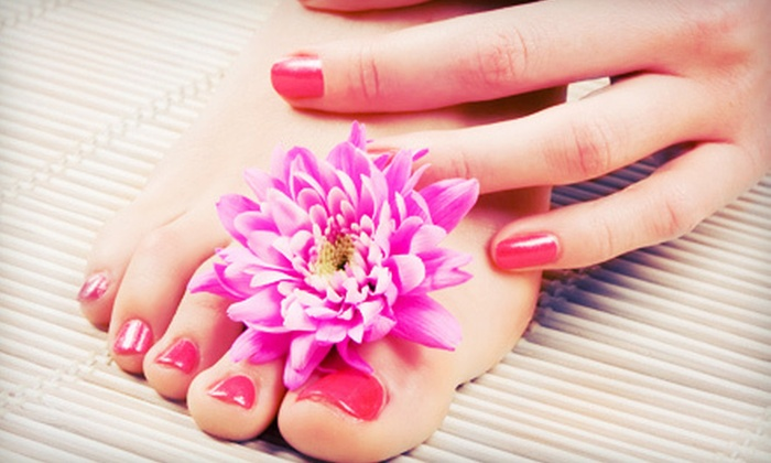 Suite Nails - Lee Hill: Mani-Pedi, Full Set of Gels, or Shellac Manicure and Signature Pedicure at Suite Nails (Up to 56% Off)