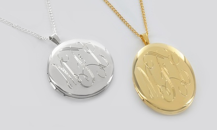 Personalized Round or Oval Locket from Monogram Online. Multiple Options from $29.99–$34.99.