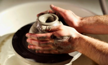 One Lesson, Eight-Week Workshop, or Birthday Party at ClayCreate Pottery Studio (Up to 54% Off)