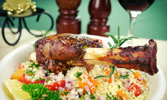 Saffron Cafe - Indianapolis: Three-Course Moroccan Meal for Two or Four with Wine at Saffron Café (Up to 58% Off)
