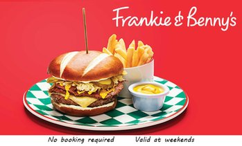 Frankie & Benny's: Two Courses for Two