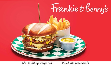 TwoCourse A La Carte Meal for Two and Optional Bottle of Wine to Share at Frankie & Benny's, Nationwide
