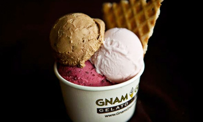 Gnam Gnam Gelato & Bistro - Greensboro: Two Combo Meals or $5 for $10 Worth of Gelato and Bistro Food at Gnam Gnam Gelato Bistro
