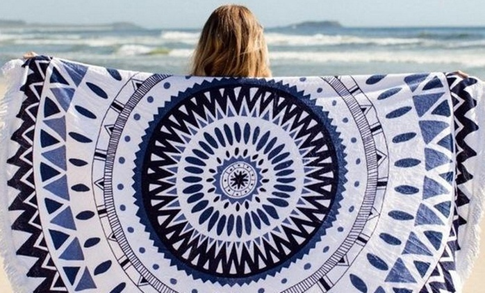 $39 for a 100% Cotton Round Beach Towel in Choice of Designs