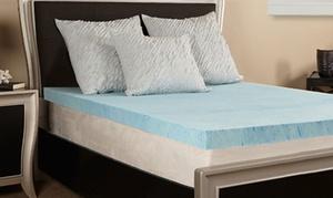 """Lux Comfort 3"""" Gel Memory Foam Mattress Topper"""