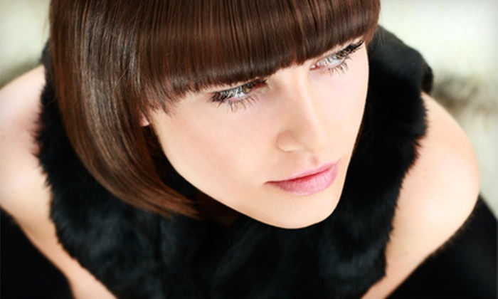 Mark Harmon at Salon Kendall - Conroe: Haircut and Style with Conditioning Treatment or Partial Highlights from Mark Harmon at Salon Kendall (Up to 63% Off)