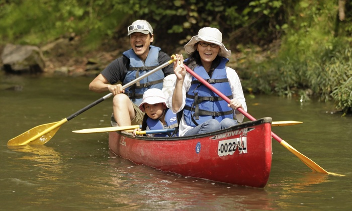 Hocking Hills Adventures - Multiple Locations: Canoeing and Camping Trip for Two with Optional Fun-Center Package at Hocking Hills Adventures (Up to 44% Off)
