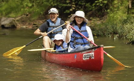 Canoeing and Camping Trip for Two with Optional Fun-Center Package at Hocking Hills Adventures (Up to 44% Off)