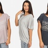 Women's Loose-Fit Printed Knit Top