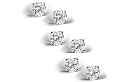 2.00 CTTW Genuine White Topaz 3-Pair Set