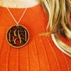 Custom Wood Monogram Necklace