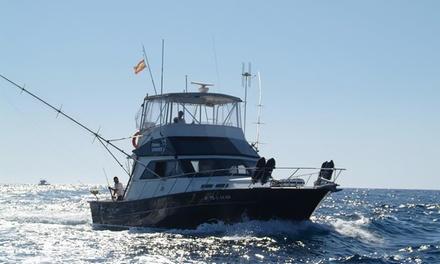 Pesca deportiva en yate durante 4 horas para 1, 2 o 4 personas con refresco y comida desde 34 €