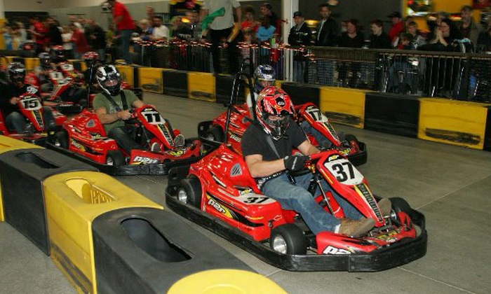 Pole Position Raceway - Central Oklahoma City: $35 for Three Indoor Go-Kart Races at Pole Position Raceway (Up to $59.85 Value)