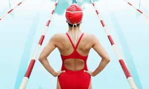 swim gym: Adult Aqua-Fitness Classes or an Introductory Evaluation at swim gym (Up to 54% Off). Four Options Available.