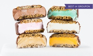 It's-It Ice Cream: 12 Ice Cream Sandwiches with Optional 12 Cookies or a Pack of Cookie Dough at It's-It Ice Cream (Up to 46% Off)