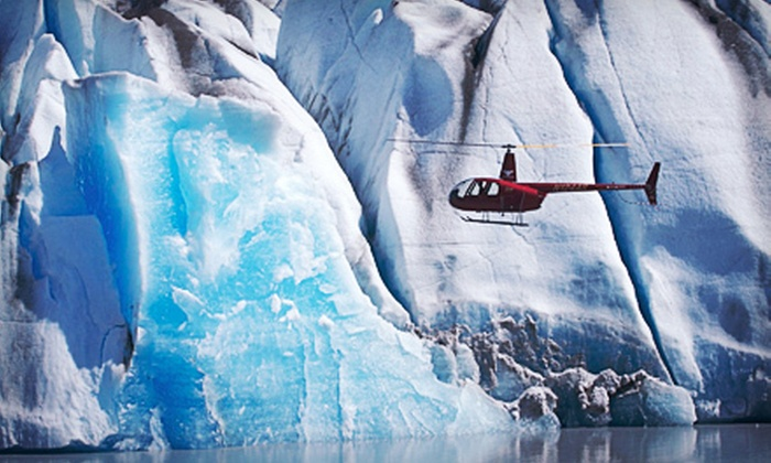 Knik River Lodge - Knik Glacier, AK: $159 for a Helicopter Flight for One with Glacier Landing from Knik River Lodge ($325 Value)