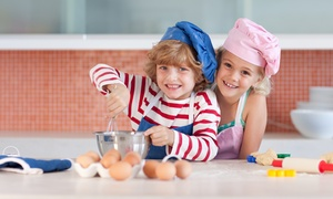 P.E.P. Club: Two or Four Kids' Cooking Classes at P.E.P. Club (Up to 50% Off)