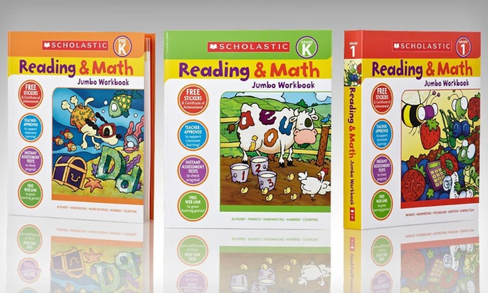 Scholastic Math and Reading Workbook Set: $19.99 for a Three-Book Scholastic Math and Reading Workbook Set ($44.97 List Price). Free Shipping.