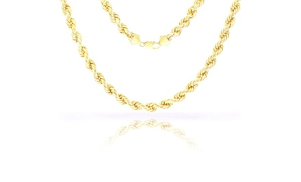 10K Solid Gold Rope 9mm Chain