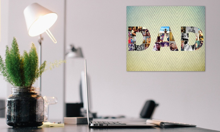 """Collage.com: $29.99 for a 16""""x20"""" Custom Photo-Collage Canvas from Collage.com ($89.99 Value)"""