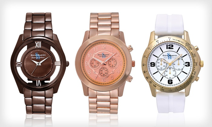 Steve Harvey Celebrity Edition Watch Collection: $25 for a Steve Harvey Men's Celebrity Watch ($80 List Price). 13 Options Available. Free Shipping and Free Returns.