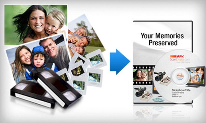 ScanDigital: Photo and Video Digitization Services from ScanDigital (Up to US$300 Value). Two Options Available.