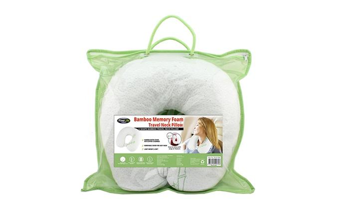 Bamboo Memory Foam Pillows Groupon Goods