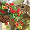 Hanging Pansy Basket with Accent Light