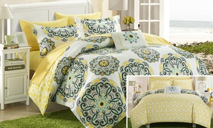 6- Or 8-piece Girona Medallion Reversible Bed In A Bag Comforter Set