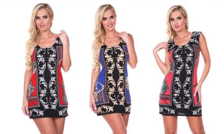 Women's Printed Sheath Dress