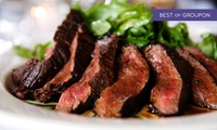 8oz Sirloin Steak Meal with Choice of Sauce for Two or Four at Banks Bistro