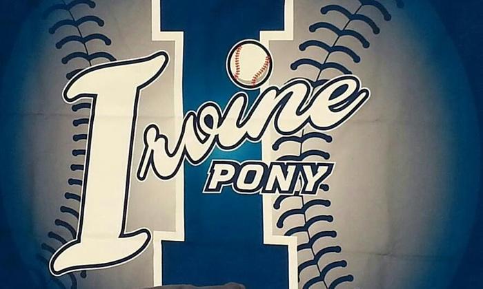 Irvine PONY Baseball:  $75 for Irvine PONY Baseball Registration with Full Uniform from Irvine PONY Baseball  ($135 Value)