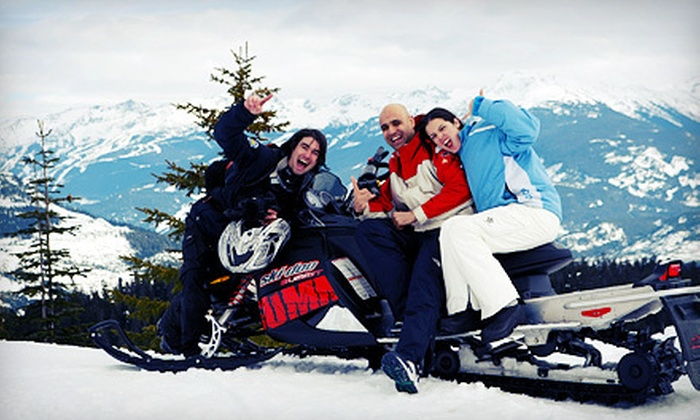 Whistler Snowmobile - Whistler Blackcomb Snowmobile - Snowshoe: Tandem Fresh Tracks Tour for Two or Four at Whistler Snowmobile (Half Off)