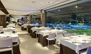 Real Café Bernabéu: Afterwork para 2, 4, 6 u 8 con tapas a elegir o pizza a compartir y bebida desde 12,90 € en Real Café Bernabéu
