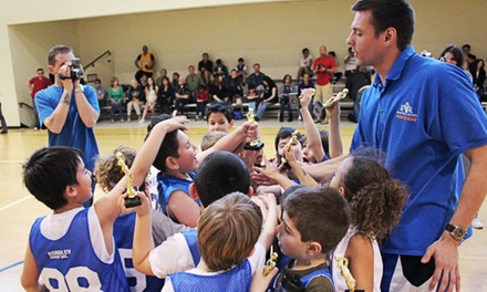 One Month of Weekly or Biweekly Youth Basketball Classes Including T-Shirt (Up to 61% Off)