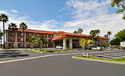 groupon daily deal - Stay at Best Western Plus Anaheim Orange County in Placentia, CA. Dates into June.